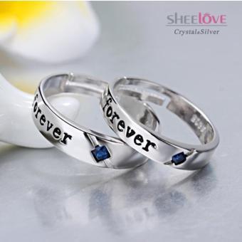 Nhẫn đôi FreeSize tình yêu Forever lãng mạn Hàn Quốc SPR-JZ067