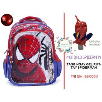 MUA 1 TẶNG 1 (Ba lô siêu nhẹ Spiderman có đèn giành cho trẻ em và học sinh (MS005) )