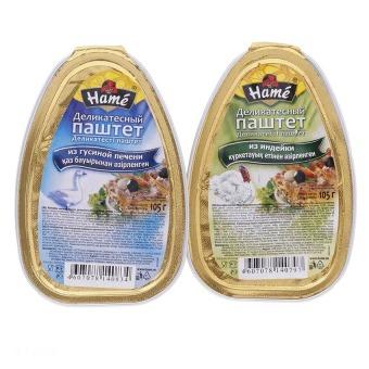 Bộ 2 hộp Patê gan ngỗng, gà tây Hame 105g