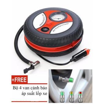 Bơm lốp điện Air Compressor cho Ô Tô + Tặng van đo áp suất lốp