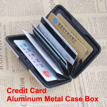 Business ID Name Credit Card Wallet Holder Aluminum Metal Case Box Waterpro