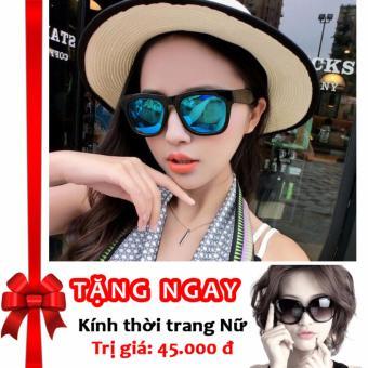 Siêu khuyến mãi mua 1 tặng 3 – Tặng 01 kính thời trang cao cấp và 02 bao da khi mua kính thời trang nữ phản quang cực Korea F146 (Xanh)