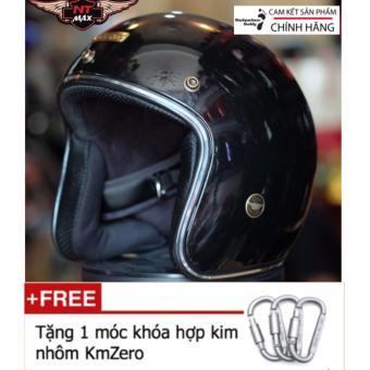 Nón bảo hiểm 3/4 NTMax Chính Hãng + Tặng 1 móc khóa hợp kim nhôm KmZero Cao Cấp