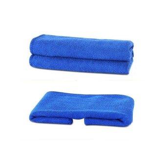 Bộ 2 khăn Micro lau xe ô tô 30 x 70 HQ111 (Xanh)