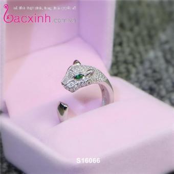 Nhẫn nữ trang sức bạc Ý S925 Bạc Xinh - Mặt báo cá tính S16066