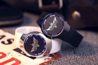 Đồng hồ nam dây da led cảm ứng IDMUASAM 9691 (Dây đen)