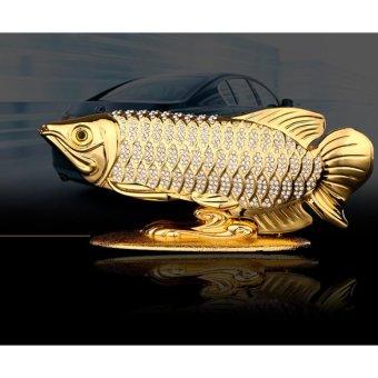 Cá Hải Tượng Vàng đặt trang trí trên mặt taplo Xe hơi (Màu Vàng)