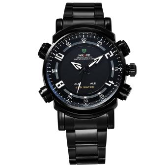 Đồng hồ nam dây kim loại Weide WH1101B-1C (Đen)