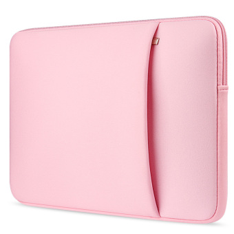 Mua Laptop Protective Carrying Sleeve Pouch Bag with Side Pocket for Universal 15.6 inch Laptop Pink giá tốt nhất