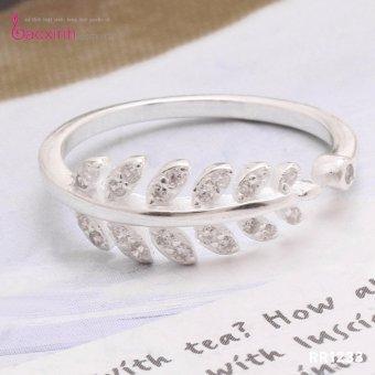 Nhẫn nữ trang sức bạc Ý S925 Bạc Xinh - Nhẫn lá Oliu đẹp RR1233