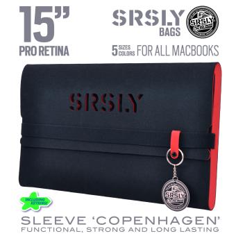 Túi chống sốc SRSLY cho MacBook Pro Retina 15 inch (Đỏ Đen)