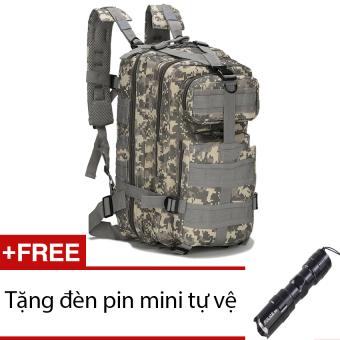 Ba lô du lịch lính chống nóng seonhi 3P (Màu ACU) + Tặng 1 đèn pin mini (Đen)