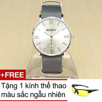 Đồng hồ nam dây vải Wendy CH212 + Tặng 1 kính thể thao màu ngẫu nhiên