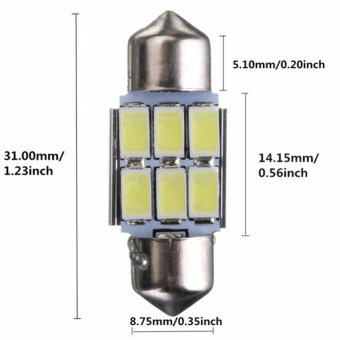 Moonar 31MM 5630 SMD 6 LED Car Lamp Auto Car Interior Dome Decoration Lamp Map Reading Car Lamp