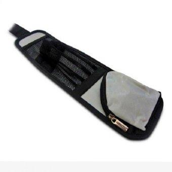 Túi đựng đồ treo thành ghế xe ô tô TI227 (Xám phối Đen)