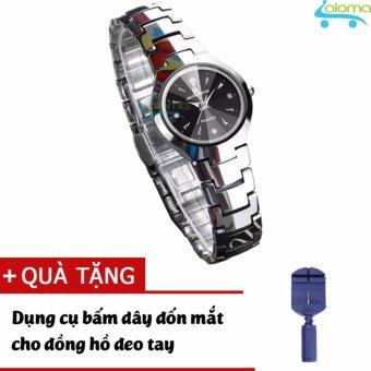 Đồng hồ nữ dây kim loại chống nước đường kính 25mm R-ontheedge (bạc) tặng dụng cụ cắt dây