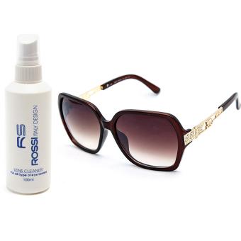Bộ 1 mắt kính nữ và 1 chai nước rửa kính MKH 812 (Trà)