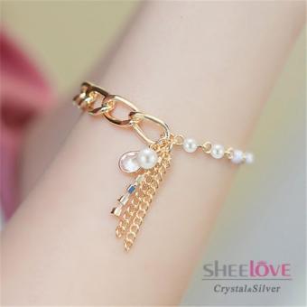 Vòng tay nữ ngọc trai thời trang sang trọng HKB-1605243