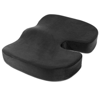 Coccyx Orthopedic Memory Foam Seat Cushion for Chair Car Office Home Black - intl