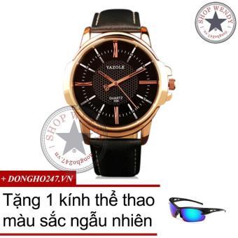 Đồng hồ nam dây da CH327 + Tặng kính thể thao màu sắc ngẫu nhiên