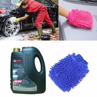 Nước rửa ô tô xe máy chuyên dụng Deluxe Super 2L kèm găng tay lau rửa xe CS713