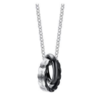 Dây chuyền đôi nam nữ 2 chiếc nhẫn lồng nhau khắc chữ ý nghĩa
