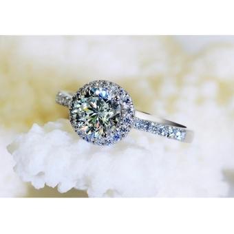 Nhẫn mặt đá nhô phong cách Hàn Quốc