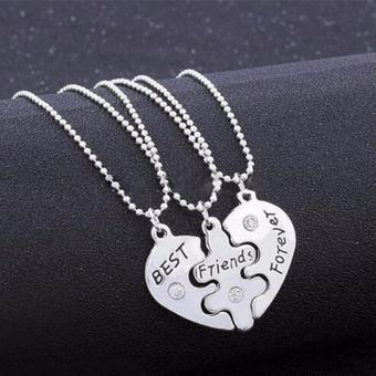 Fancyqube 1Set Best Foever Friend Friendship Symbolic Token Lucky Pendant Necklace - intl
