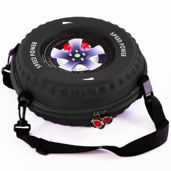 Ba lô hình bánh xe cho bé (Đen)