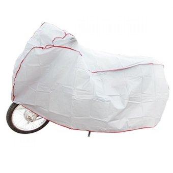 Bạt che xe máy ngoài trời Huy Tuấn (Ghi)