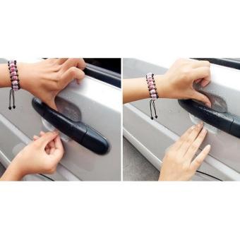 04 miếng Đề can dán chống xước hốc tay nắm mở cửa ô tô