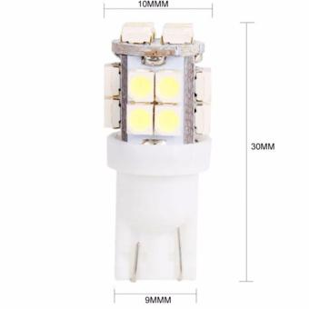 Bộ 2 bóng LED T10 168 194 192 W5W Wedge SMD (Vàng)