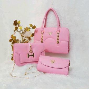 Bộ 3 túi xách cao cấp TX137 (hồng)