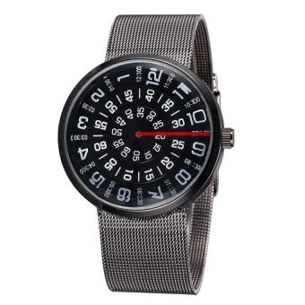 Đồng hồ Unisex dây hợp kim Paidu TS15 (Đen)
