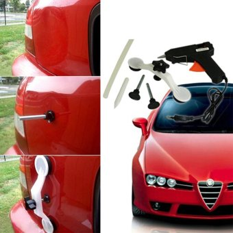 Moonar Car Body Dent Ding Puller Repair Kit Remover Removal Tool Metal Plate Dent Patch Kit (EU Plug)