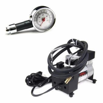 Bộ máy bơm lốp ô tô HEVAY DUTY và đồng hồ đo áp suất hơi GDX-8336