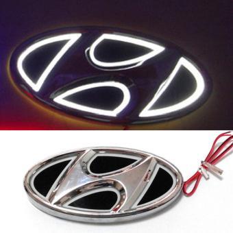 Logo xe Hyundai có đèn 14,5x7,2cm