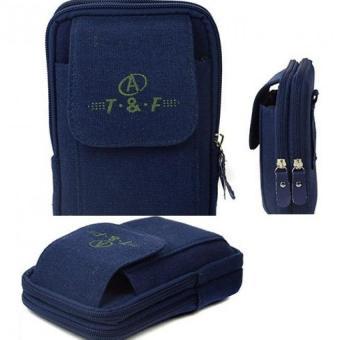 Túi ví đeo thắt lưng thể thao cao cấp H143 (Xanh đậm)