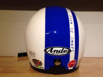 Mũ bảo hiểm Andes 111C Ride 3S trắng/xanh dương