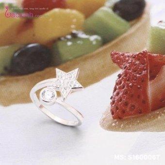 Nhẫn nữ trang sức bạc S925 Italia Bạc Xinh S160006