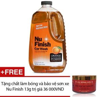 Nước rửa xe hơi Nu Finish Car Wash NFW-821, 1.89L + Tặng chất làm bóng và bảo vệ sơn xe Nu Finish 13g