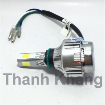 Đèn pha led Thanh Khang 3 tim NAO M3 mini 18w siêu sáng gắn pha xe máy (ánh sáng trắng)