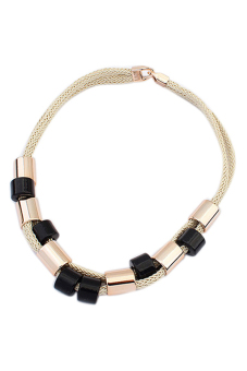 Bluelans Statement Necklace (Gold/Black) (Intl)