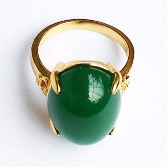 Nhẫn nữ Lamia đá thạch bích xanh cực đẹp và sang trọng (LANHA001)