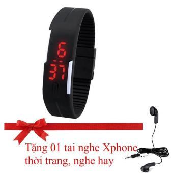 Đồng hồ trẻ em đèn LED dây Silicon siêu mềm SH168 (Tặng tai nghe Xphone thời trang, nghe hay)