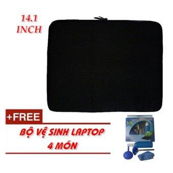 Túi chống sốc Laptop 14.1 Inch + KM bộ vệ sinh Laptop