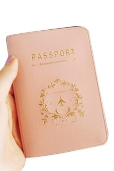 Mua Fancyqube Travel Utility Simple Passport ID Card Cover Pink giá tốt nhất