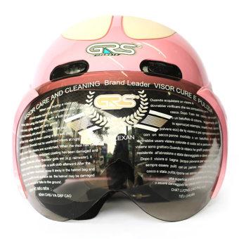 Mũ bảo hiểm có kính GRS102 (Hồng)