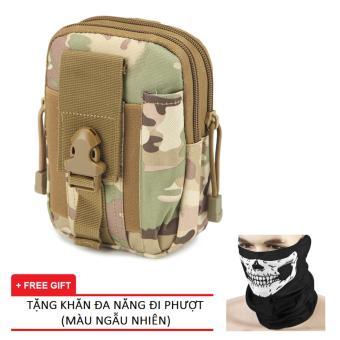 Túi Đeo Hông Quân Đội PRAZA DC081 (Kaki) Tặng kèm 1 Khăn Đa Năng