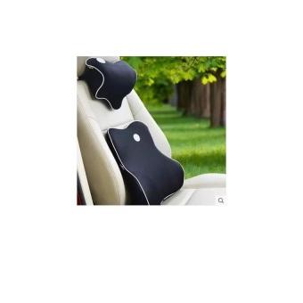 Bộ tựa lưng và gối cổ xe ô tô cao cấp (Đen)